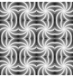 Design seamless uncolored vortex twisting pattern vector