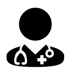 doctor icon medical consultation male physician vector image