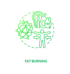 Fat burning dark green concept icon vector
