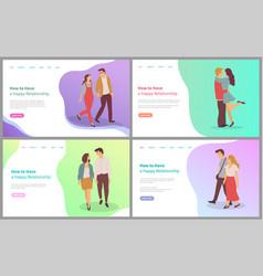 feelings boyfriend and girlfriend lover vector image