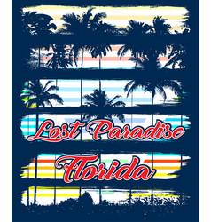 Florida beach typography tee graphic design vector
