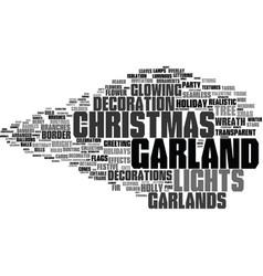 Garland word cloud concept vector