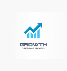 growth creative symbol concept increase bank vector image
