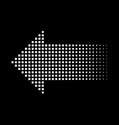 Halftone gradient dots arrow graphic element vector