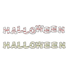 Halloween Mummy text Letters wrapped medical vector image
