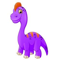 Happy baby stegosaurus cartoon vector