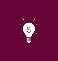 idea bulb icon simple vector image
