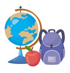 Isolated globe school design vector