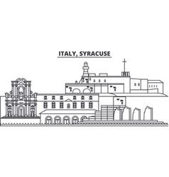 Italy syracuse line skyline vector