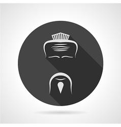 Japanese chef black round icon vector image