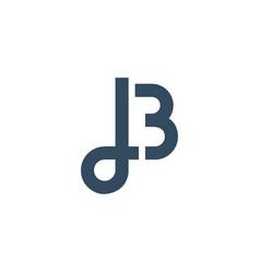 Lb initial logo design simple minimalist vector