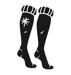 long winter socks icon simple style vector image