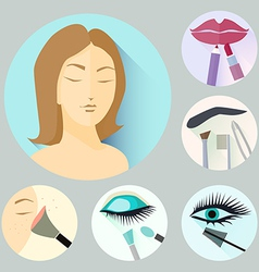 Make-up icons vector
