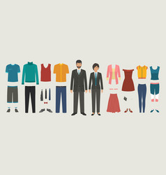 man and woman characters with business casual vector image