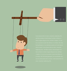 Marionette of Businessman with rope controlled vector image