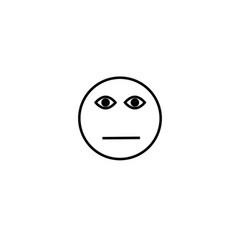 meh face emotion icon vector image