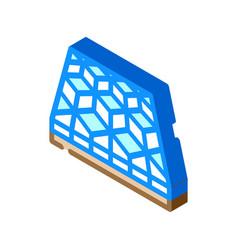 Mosaic floor isometric icon vector