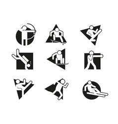 multi shape block sport abstract symbol graphic vector image