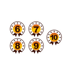 Number template set vector