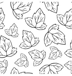 outlined leaf pattern vector image