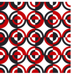 retro style geometric seamless pattern vector image