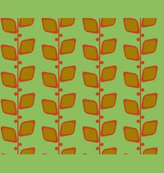 Retro vintage seamless pattern midcentury floral vector