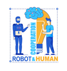 Robot and human productive symbiotic cooperation vector