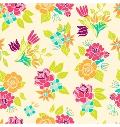 Seamless floral pattern background vector image