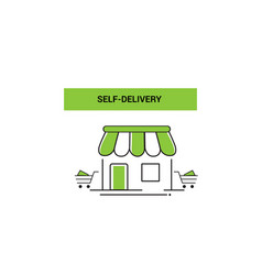 self-delivery logo template design vector image
