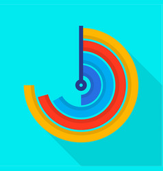 Semi circle diagram icon flat style vector