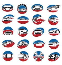 Set of car icons vector