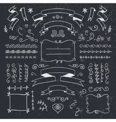 Set of hand drawn vintage dividers frames vector
