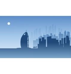 Silhouette of Dubai vector image