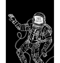 Space concept with astronaut vector image
