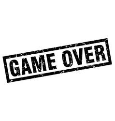 Square grunge black game over stamp vector