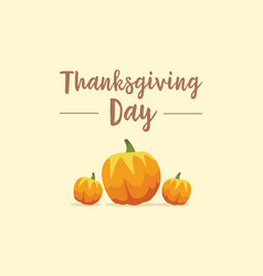 thanksgiving day background with pumpkin vector image