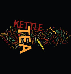 the power of the tea kettle text background word vector image