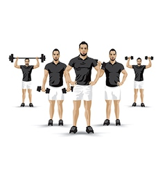 training group background vector image vector image