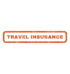 Travel Insurance Rubber Stamp vector