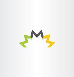 Triple letter m logo symbol element vector