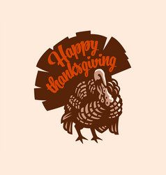 Turkey for thanksgiving day vector