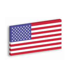 Usa 3d flag hanging on the white wall withg vector