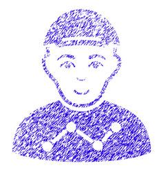 User stats icon grunge watermark vector