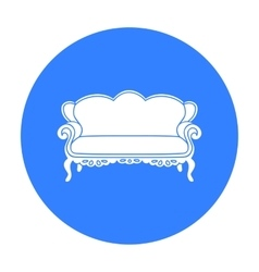 Vintage sofa icon in black style isolated on white vector