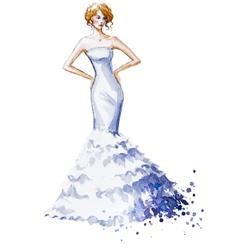 Watercolor fashion vector image