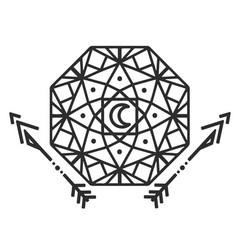 geometry moon arrow tattoo design image vector image