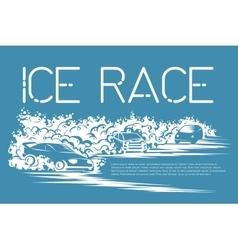 Ice race card vector