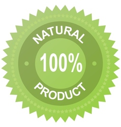 label - 100 natural product vector image vector image