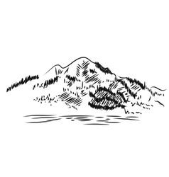 Mountain Landscape Hand drawn vector image