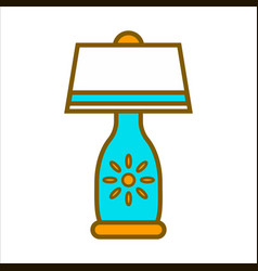 Table lamp graphic close up colorful vector